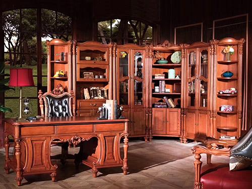 宫爵现代美式书房装修展示效果图赏析